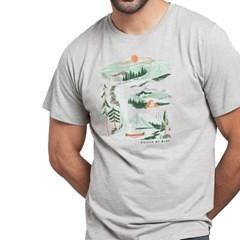 [유나이티드바이블루] 리버밴드 반팔 티셔츠 남성용 그레이