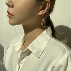 심플 큐빅 나비 은침 귀걸이 이어커프 세트