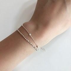 [92.5 silver] Silver ball bracelet