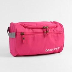 트래블 사각 파우치(핑크)/여행용파우치 화장품가방