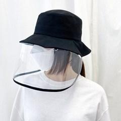 코튼 투명 안면보호 방역모자 바이러스 코로나 모자