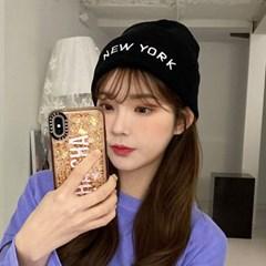 NEWYORK 롱비니 챙없는 모자 숏 와치캡