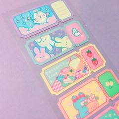 So many Ticket - Pastel 칼선 스티커