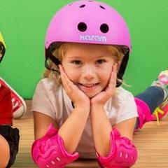 카잠  유아동 자전거 밸런스자전거 보호대 핑크