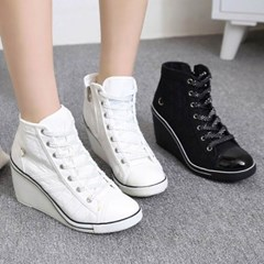 kami et muse Strap point wedge heel sneakers_KM19w338