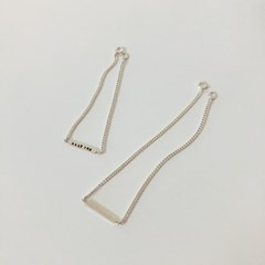 [92.5 silver] Initial square bracelet (2 colors)