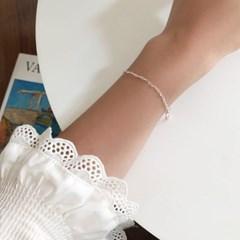 [92.5 silver] Heart pretzel bracelet
