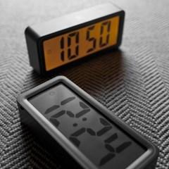 [Banana]먹색 눈편한 큰 디자인 LCD 디지털 온도,타이머,알람 시계 L