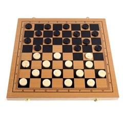 접이식 원목 체스/체커 백개먼 겸용 고급 체스판