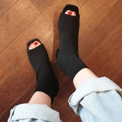 kami et muse Scoks fit toe open ankle bootee heel_KM19w342