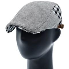 [플릭앤플록]IMH07.헤링본 깅엄체크  헌팅캡 남성 모자