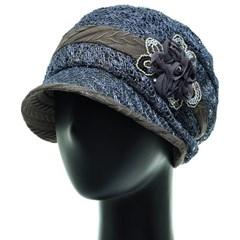 [플릭앤플록]ICU08.쉬폰꽃 망사니트 여성 벙거지 모자
