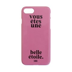Etoile Phone Case + Finger Holder (Pink)