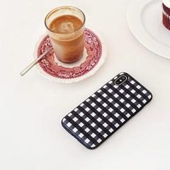 [duboo] 프렌치 체크 블랙 카드 수납케이스
