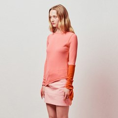 SLEEVES KNOT COLOR COMBINATION TOP_ORANGE (EETZ1RLY01W)