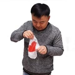 덤팁앤실크(소)어린이용(약2cm)하트실크