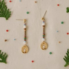 gold noon earrings