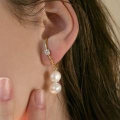 unbalance earcuff earrings (2colors)