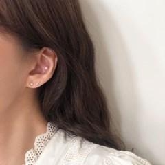 [92.5 silver] Mini heart earring