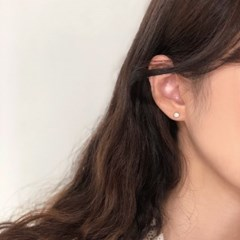 [92.5 silver] Opal earring