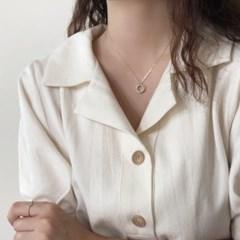 [92.5 silver] Twist round necklace