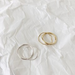 [92.5 silver & 14k gold plated] Connected ring (3 colors)