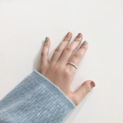 [92.5 silver] Crack ring