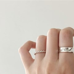 [92.5 silver] Knock ring
