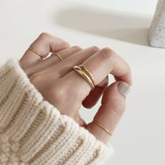 [92.5 silver] Almond ring - Gold