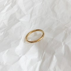 [92.5 silver & 14k gold plated] Bold simple ring