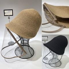 휴대용 미세먼지 우한폐렴 코로나 지퍼 방역 벙거지 모자