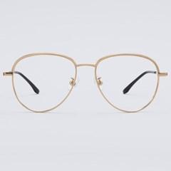 TOBY gold 안경테 가벼운 경량 투톤 레트로 일제_(1970044)