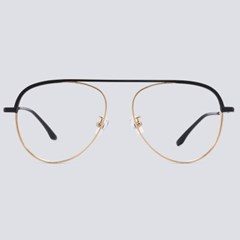 GARY gold-black 안경테 난시 맞춤 렌즈 둥근_(1970042)