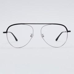 GARY silver-black 안경테 지적인 나무 반테_(1970041)
