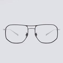 JOEL black-silver 안경테 도수없는 맞춤 통_(1970037)