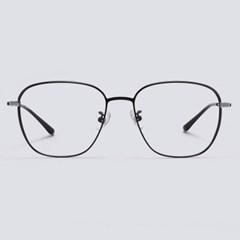 MOON black-silver 안경테 통 타원형 원형_(1970031)