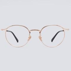 CORA rosegold 안경테 동그란얼굴형 명품 뉴요커_(1970026)