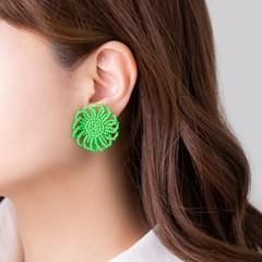 꽃 비즈 귀걸이