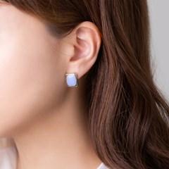 컬러 사각 골드림 귀걸이