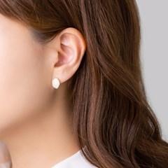 컬러 오벌 골드링 귀걸이