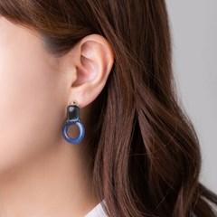 멜팅 도형 귀걸이