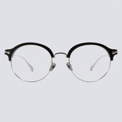 DON silver-black 안경테 동그란얼굴형 빛번짐_(1970021)