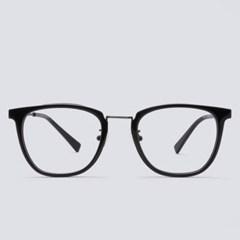 JEFF black 안경테 동그란얼굴형 안경원 도수없는_(1970017)