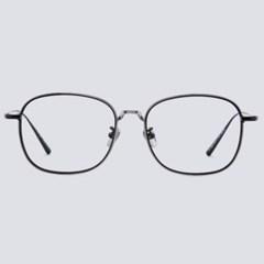 DEPP silver-black 안경테 다각형 뿔 수리_(1970007)