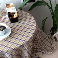 온더퍼플주스체크 식탁보 테이블보 2size 테이블러너