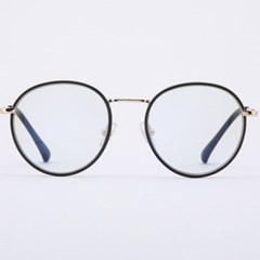 ORAN gold-black 안경테 도수없는 파우치 둥근_(1969909)