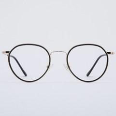 SIMON gold-black 안경테 다리 도수없는 메탈_(1969893)