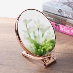 뷰티숍 접이식 원형 탁상거울 /3배확대 양면 화장거울