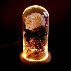 LED튜브형 부케말리기선물 말린부케선물 유리돔 무드등