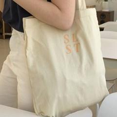 slowstitch simple logo bag ( pastel yellow )